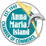 Text: Anna Maria Island Chamber of Commerce, Est 1949.